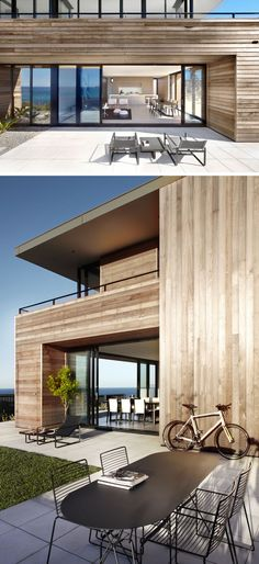 The rooms in this modern beach house open to generous outdoor spaces, located on different sides of the house, ensuring protection from the ever changing and strong winds. #ModernHouse #BeachHouse