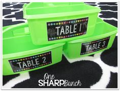 Table number FREEBIE perfect for table caddies, writing boxes, and more!