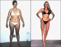 Body-for-Life:  12-week transformation with the following results: 37 pounds lost, 14 body fat points lost, down 10 sizes, 8 inches off her waist and 6 inches off her hips.