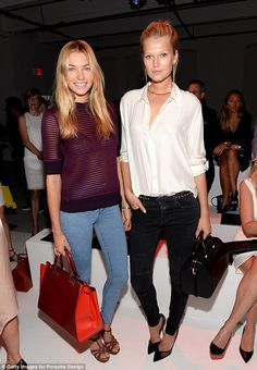 The beautiful people: Fellow model Jessica Hart joined Toni as they made casual ensembles look positively flawless
