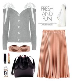 """S H O U L D E R S"" by ayu-imskal ❤ liked on Polyvore featuring Elisabetta Franchi and Chanel"