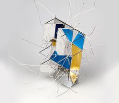 Peter Skubic  Brooch  Stainless steel, lacquer, gold leaf
