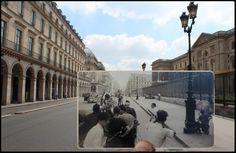 Rue de Rivoli in Parijs tijdens de Tweede Wereldoorlog.