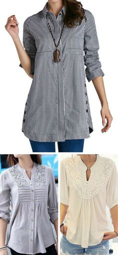 Hot sale~ fall outfits for wom Fall Outfits, Cute Outfits, Fashion Outfits, Womens Fashion, Casual Outfits, Umgestaltete Shirts, Womens Trendy Tops, Magazine Mode, Top Pattern