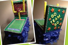 Sports theme float for my son's shoe box float school project. Kept it simple. :)