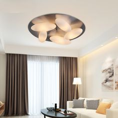 Modern Style Beige Eggs Ceiling Light with Chrome Canopy for Living Room Bedroom Restaurant Led Ceiling Lights, Ceiling Lamp, Living Room Bedroom, Canopy, Mid-century Modern, Chrome, Eggs, Restaurant, Curtains