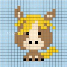 super Ideas for crochet animals horse cross stitch Graph Crochet, Pixel Crochet, Crochet Diagram, Crochet Squares, Crochet Patterns, Cross Stitching, Cross Stitch Embroidery, Cross Stitch Designs, Cross Stitch Patterns