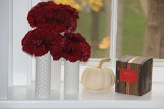 Fall Decor Picks- Glam Pumpkins, Carnations and Hearth Candle by Nest Fragrances