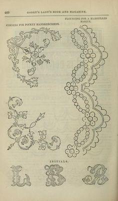 old handkerchief corner / embroidery