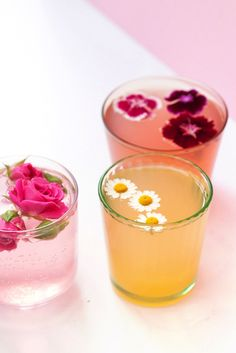 Floral drink garnish