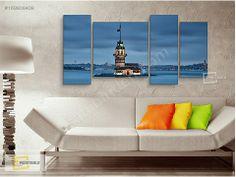 KIZ KULESİ 159x75 4 PARÇA ÖZEL TASARIM KANVAS TABLO KARGO BİZDEN -  Tablo ve Diğer Dekoratif Ürün Fiyatları sahibinden.com'da