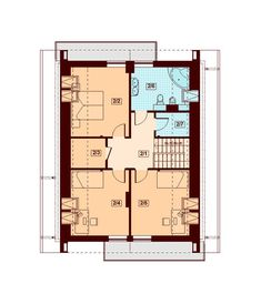 DOM.PL™ - Projekt domu DN DIONA BIS CE - DOM PC1-37 - gotowy koszt budowy Malaga, Floor Plans, How To Plan, Case, Little Cottages, Floor Plan Drawing, House Floor Plans