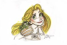 Great Rapunzel sketch by #TimRogerson