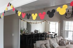 Mickey Mouse Garland and Birthday Party Ideas