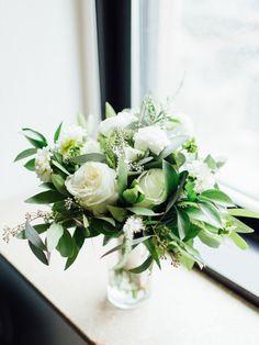 Ivory rose and greenery wedding flowers: http://www.stylemepretty.com/illinois-weddings/chicago/2016/11/30/persian-fusion-chicago-wedding/ Photography: Tim Tab Studios - http://timtabstudios.com/