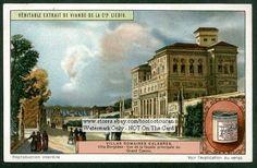 Villa Borghese Rome Italy 1920s Card