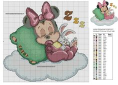 BABY MINNIE SCHEMA PUNTO CROCE - COLORI by syra1974