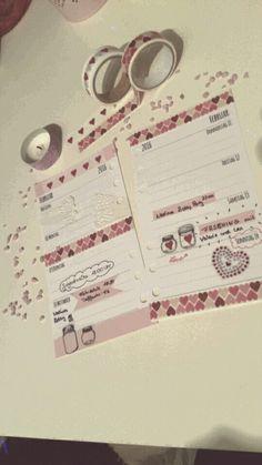 Wochendekoration  ~ Valentinswoche ~ #filofax #filofaxing #plannergirl #wochendeko #valtinstag #collinsparisorganizer
