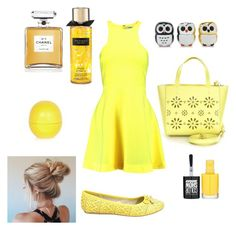 """""""Untitled #34"""" by merijam5 on Polyvore featuring Kate Spade, Elizabeth and James, Chanel, Forever 21, River Island and Maybelline"""