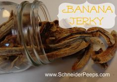 "Dehydrated banana sticks - affectionately known as ""banana jerky"" at my home"