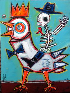 """""""day of the dead""""  by Washington, DC painter Matt Sesow  (October 2013).  see his latest throughout the year and deal directly with him at   http://new.sesow.com"""