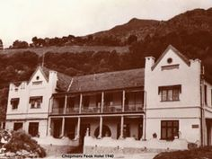 Chapmans Peak Hotel, Hout Bay, Cape Town, South Africa - History True Homes, Whale Watching, Old Buildings, Historical Pictures, African History, Cape Town, Art And Architecture, South Africa, The Good Place
