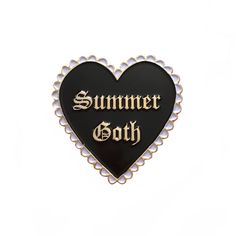 For those of us who always wear black. Pin by KWT. Soft enamel with gold plating, rubber backing. Wearing All Black, All Black Everything, Pin And Patches, Unique Gifts, Handmade Gifts, Gothic Outfits, Logo Sticker, Jewelry Design, Unique Jewelry