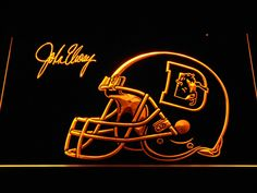 Denver Broncos John Elway Signature LED Neon Sign
