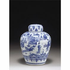 A Blue and White Ginger Jar<br>Qing dynasty, Shunzhi / Early Kangxi period | lot | Sotheby's