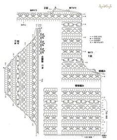 Болеро узором тюльпаны. Японские схемы вязания крючком болеро | Я Хозяйка