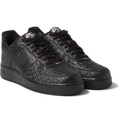 Nike - Air Force 1 LV8 Crocodile-Embossed Leather Sneakers
