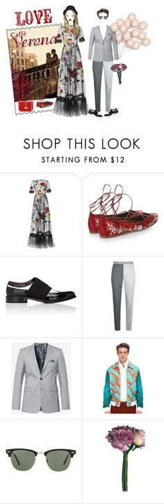 """""""Romantic Story"""" by andreearaiciu ❤ liked on Polyvore featuring Mary Kay, Dolce&Gabbana, Etro, Givenchy, Thom Browne, Ted Baker, Vivienne Westwood, Ray-Ban and Valentino"""