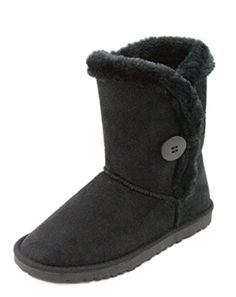 Dok Mid Calf Round Toe Warm Snow Boots 7 Black * This is an Amazon Affiliate link. To view further for this item, visit the image link.