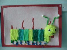 Liebfrauenschule Goch - Class We make caterpillars - werken tex - Handarbeit Diy And Crafts, Crafts For Kids, Textiles, School Art Projects, Eric Carle, Chenille, Nature Crafts, Creative Kids, Art Lessons