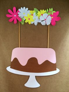 Cake topper de flores!