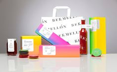 Savory Confectionery Packaging - The Bermellon Mexican Candy Branding Denotes Premium Quality (GALLERY) Branding And Packaging, Candy Packaging, Food Branding, Print Packaging, Packaging Ideas, Bakery Branding, Design Packaging, Identity Branding, Food Packaging