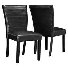 Monarch Specialties Black Upholstered 2 Piece Parson Chairs - I 1975