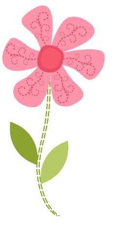 PINK FLOWER CLIP ART