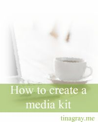 How to create a media kit - free download from Tina Gray {dot} Me