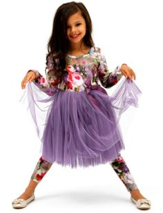 Purple Indiana Floral Tutu Dress - $49.95  Stunning little girls tutu dress!  Perfect little party dress OR team with a pair of gumboots - every day is a tutu kind of day in our opinion :)