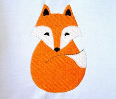 Filled Fox Machine Embroidery Design Pattern Download 3 Sizes Woodland Animal Embroidery Pattern by KatieLDesigns on Etsy