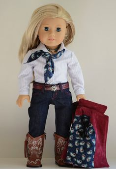 American Girl Barn Coat and Jeans Ensemble by Simply18Inches.