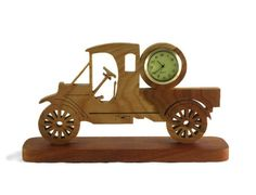 Antique Model A Style Truck Desk Clock Handmade From Cherry Wood, Pickup Truck, Ford Model A, Unique Gift, Man Cave, Gift For Him, by KevsKrafts, $36.97 USD @kevskrafts #bmecountdown