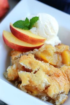 Peach Cobbler Recipe - from RecipeGirl.com