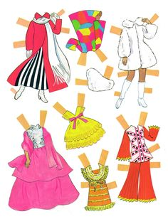 Fashion show paper dolls (3 of 9)