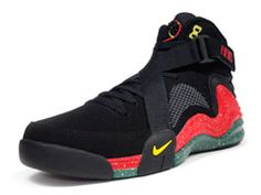 the latest bfccd e1e52  Nike Lunar Raid Urban Jungle Gym Black Red Green  sneakers