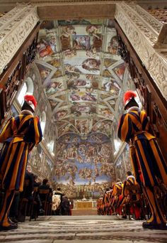 Swiss Guard-Vatican Sixtinischen Kapelle Vatikan Rome Lazio