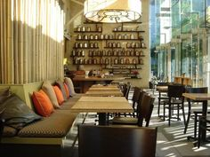 Samovar Tea Lounge - San Francisco    Located by the Yerba Buena Gardens.  Extensive Tea offerings & food pairings.  The floor to ceiling windows and view of the gardens brought a relaxed vibe to the busy city atmosphere.