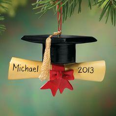 Personalized Graduation Cap Ornament - Zoom For Greg:-)