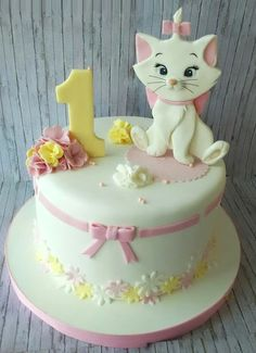 cat birthday cake for cats party ideas - cat birthday cake for cats ; cat birthday cake for cats party ideas ; cat cake for cats birthday parties Birthday Cakes Girls Kids, Birthday Cake For Cat, Birthday Cupcakes, Girl Cupcakes, Cupcake Cakes, Cup Cakes, Kitten Cake, Disney Cakes, Diy Cake